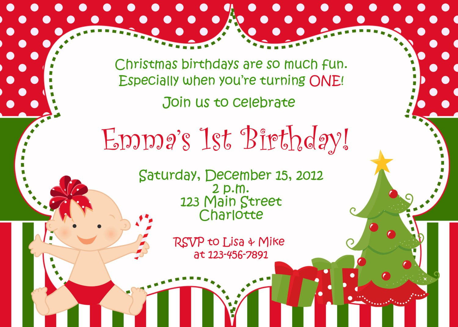 Free Printable Childrens Christmas Party Invitations