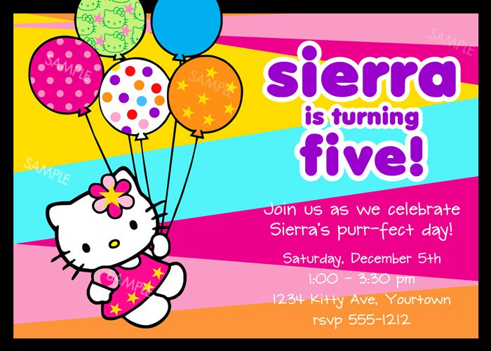Hello Kitty Party Invitations Free Printable