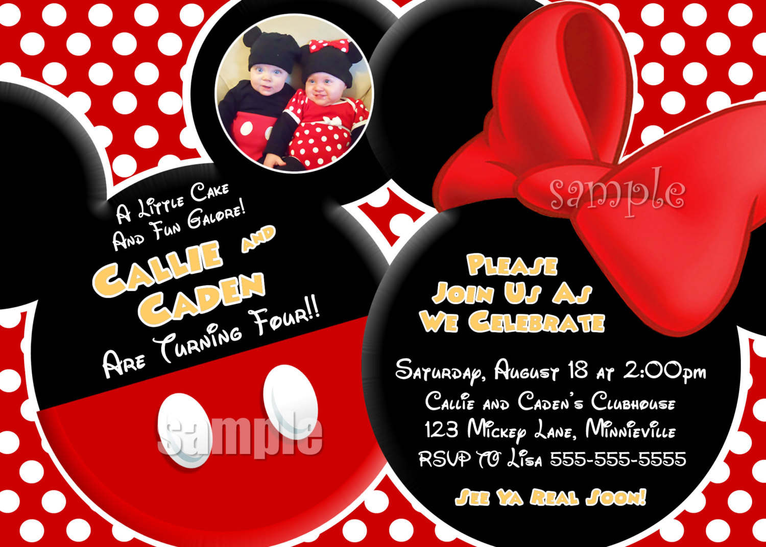 Mickey Mouse Clubhouse Invitation Template Free