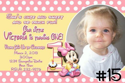 Printable 1st Birthday Invitations Cards