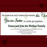 Printable Christmas Party Invitation 1