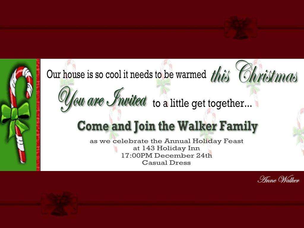 Printable Christmas Party Invitation 1
