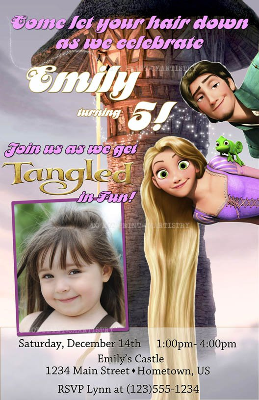 Printable Disney Tangled Party Invitations