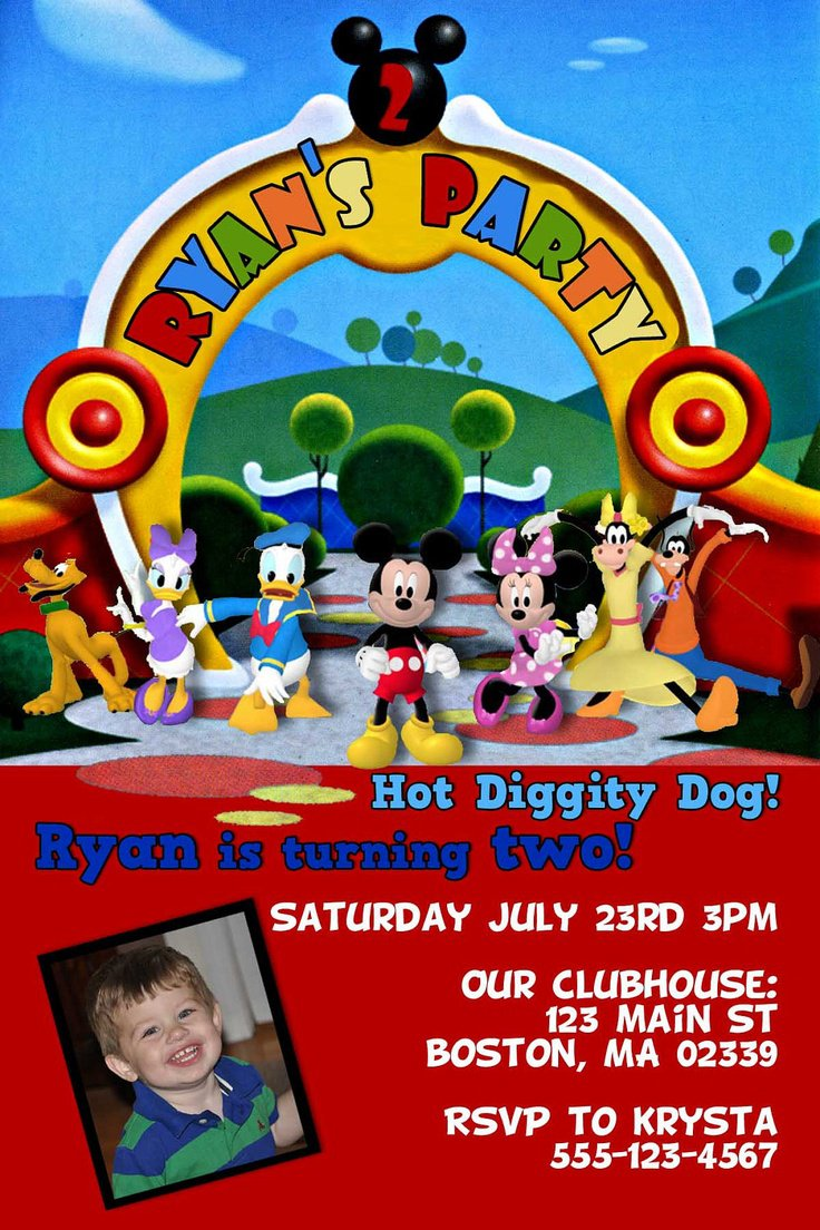 Printable Mickey Mouse Clubhouse Invitations