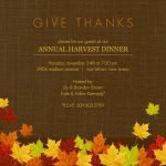 Printable Thanksgiving Invitations Free
