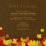 Printable Thanksgiving Invitations Free