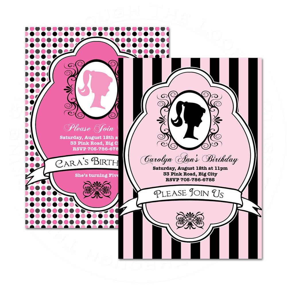 Birthday Invitation Cards Free Printable For Girls