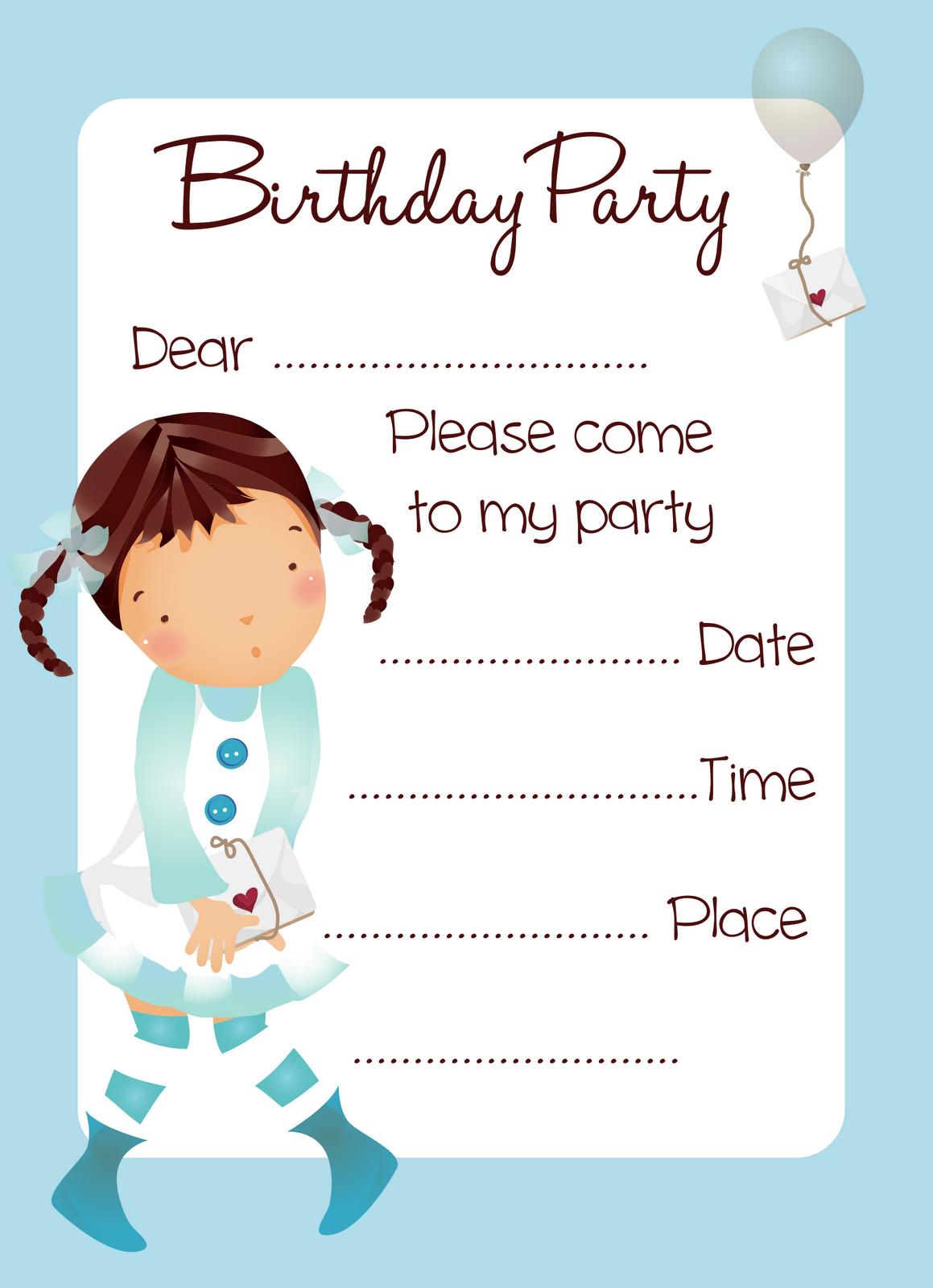 Printable Girl Birthday Cards