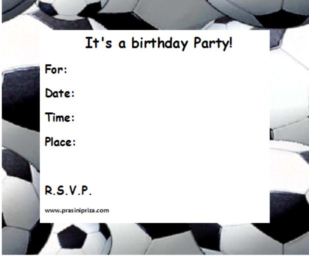 Birthday Invitation Templates Printable 2016
