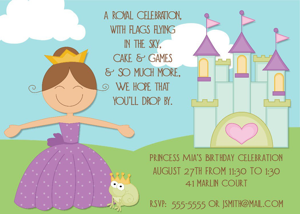 Birthday Party Invitation Templates Printable 2018