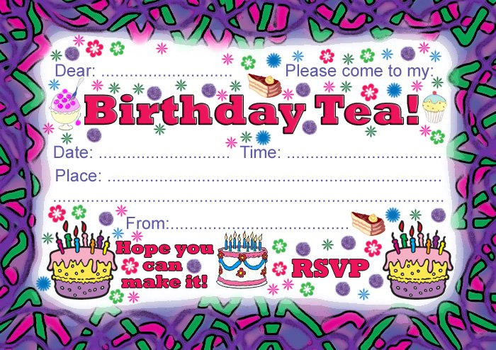 Birthday Party Invitations Free Printable 2015