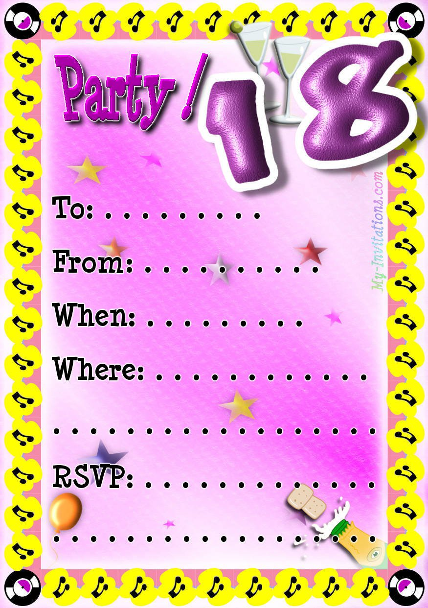 Birthday Party Invitations Free Printable 2016