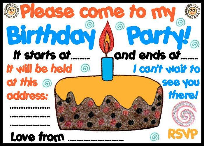 Birthday Party Invitations Free Printable 2018