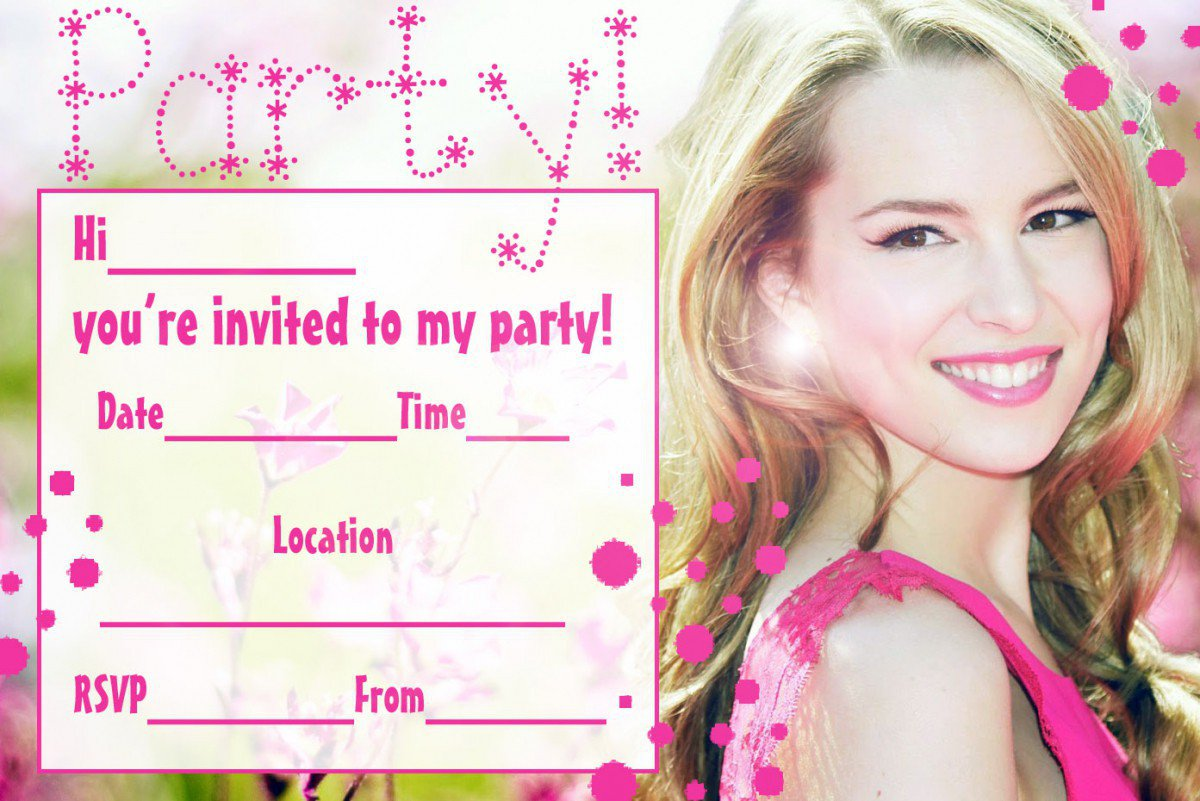 Birthday Party Invitations Free Printable Sleepover 2017