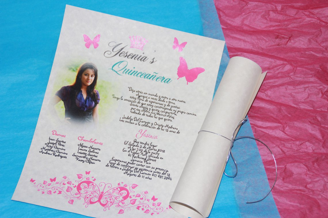 Cheap Printable Quinceanera Invitations
