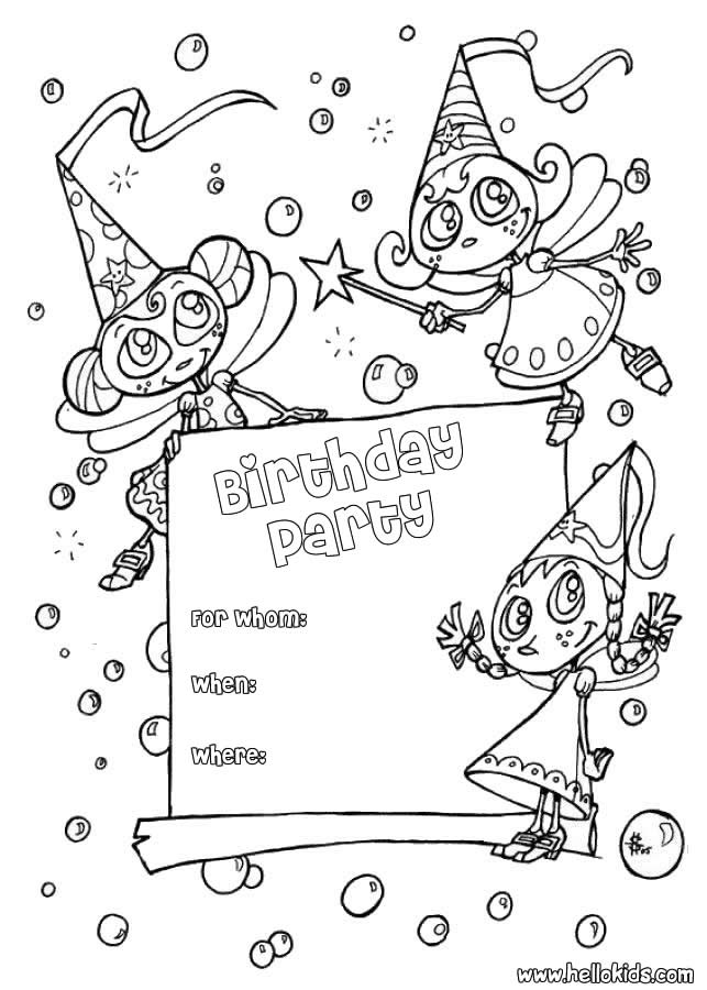 Children 's Birthday Invitations Free Printable 2015