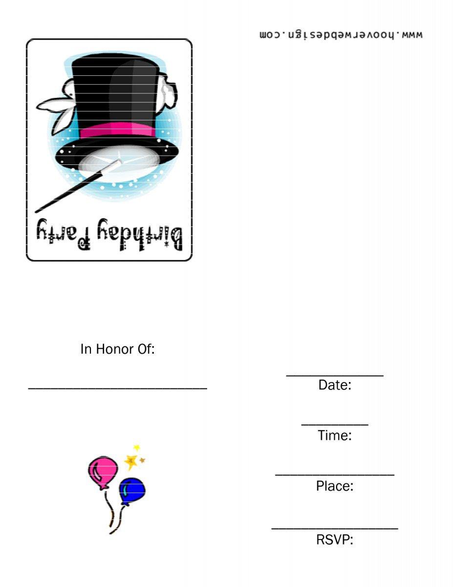 Children 's Birthday Invitations Free Printable 2017