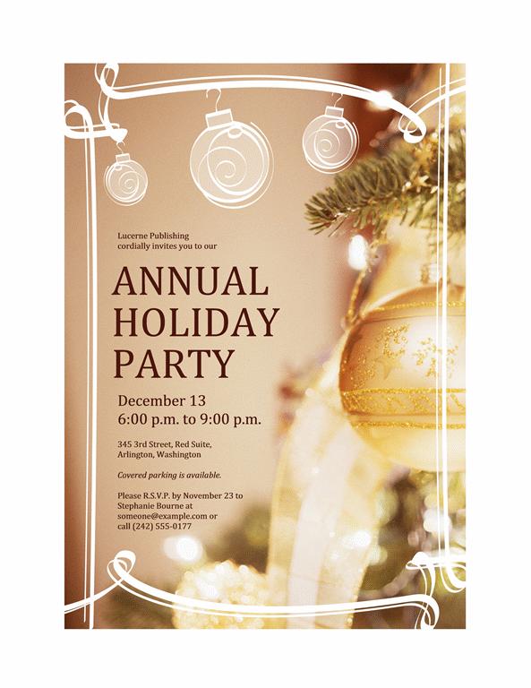 Christmas Party Printable Invitation Templates Free 2016