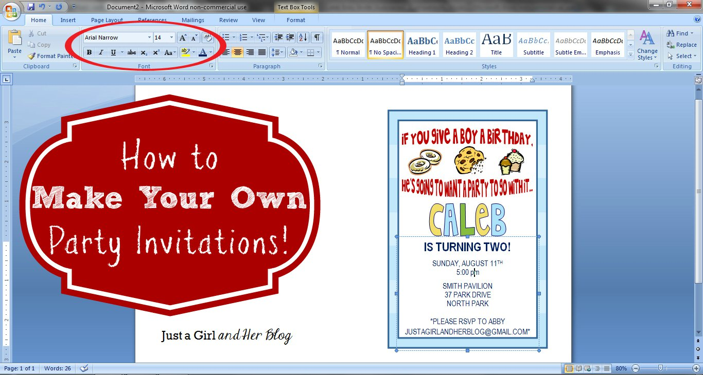 Create Your Own Birthday Invitations Free Printable