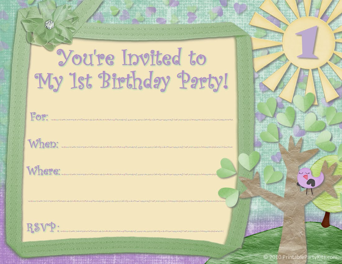 Cute Printable Birthday Invitations Kids 2018