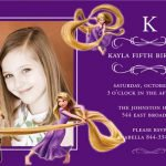 Disney Tangled Printable Birthday Invitations 2018