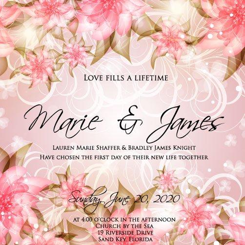 Download Printable Wedding Invitation Templates 2017