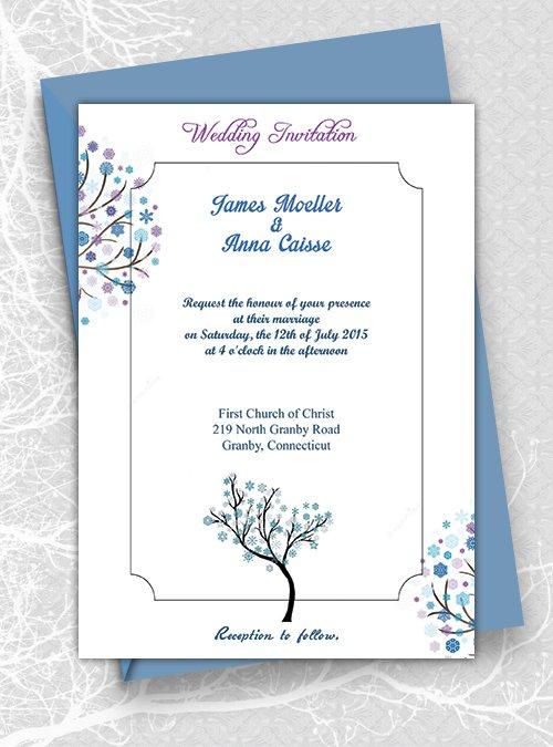 Download Printable Wedding Invitation Templates