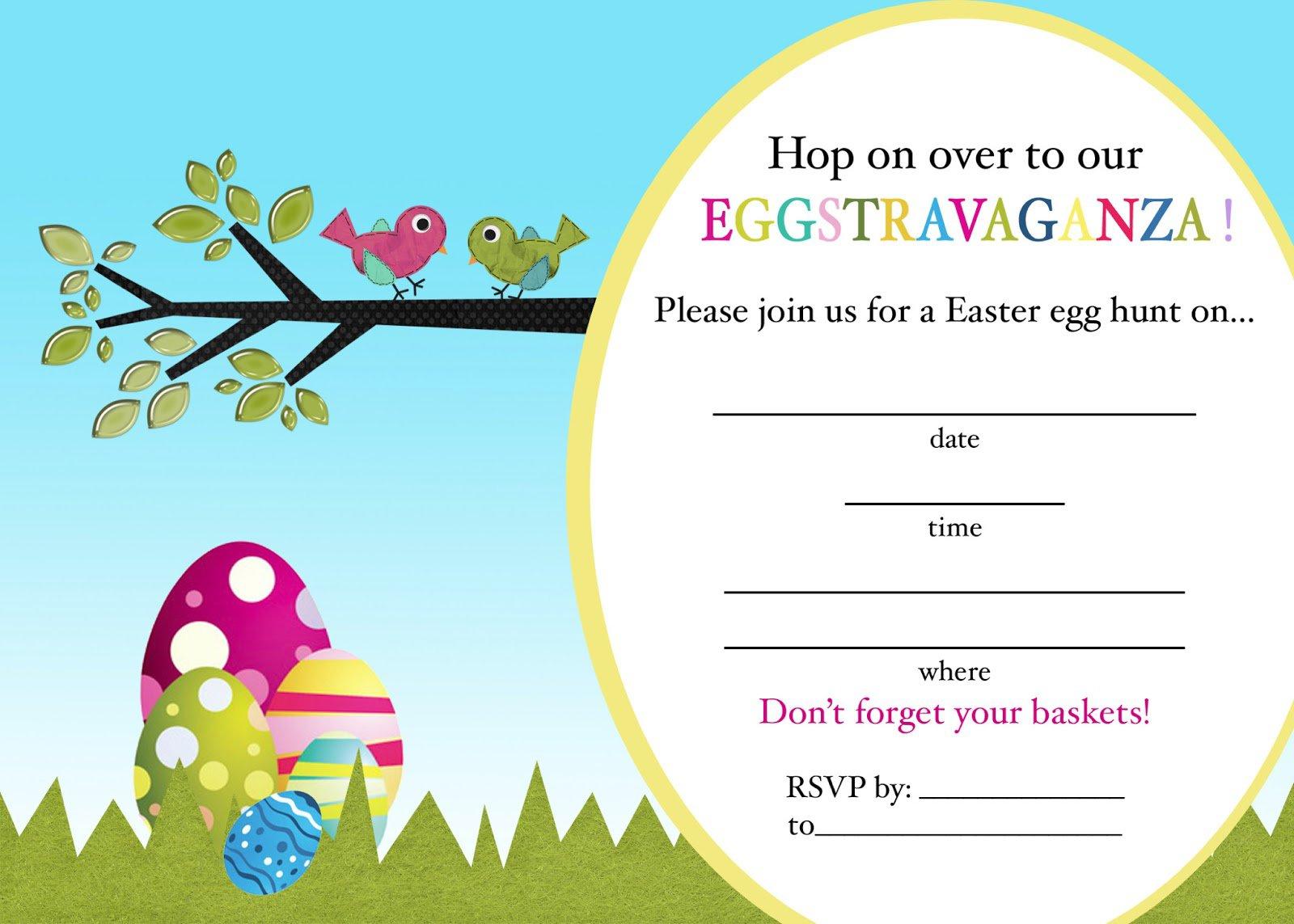 Easter Egg Hunt Invitations Free