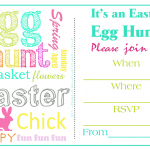 Easter Egg Hunt Invitations Free Printable