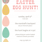 Easter Egg Hunt Invitations Templates