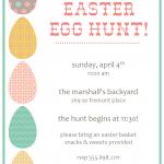 Easter Egg Hunt Invitations Templates