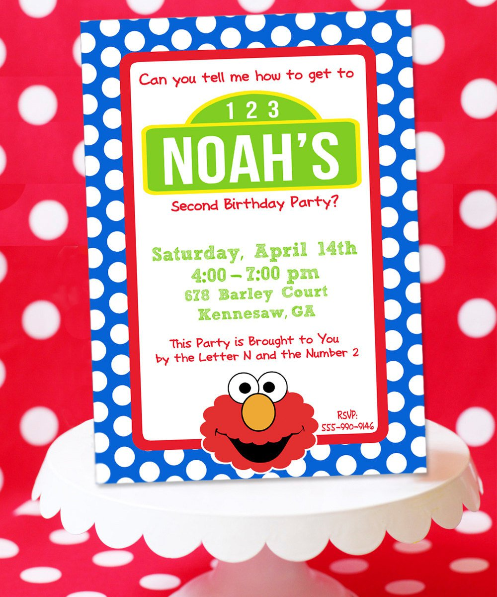 Elmo Party Invitations Free Printable