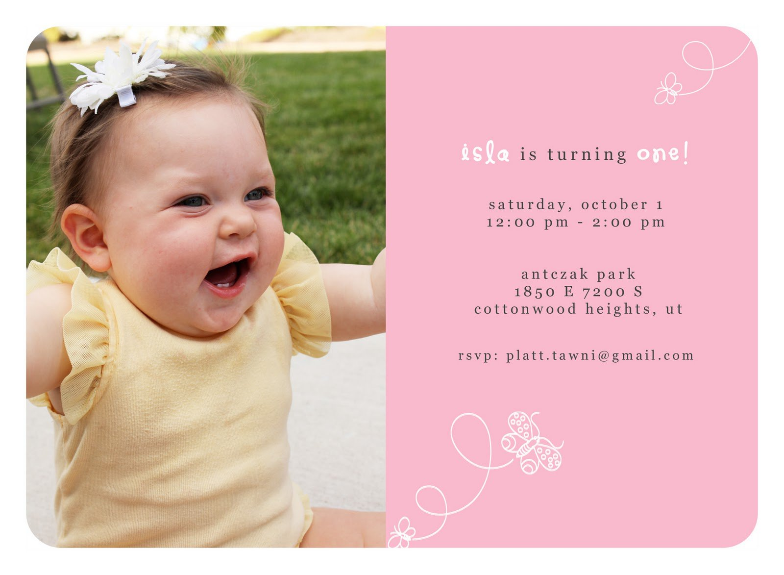 Free Baby First Birthday Invitation Templates