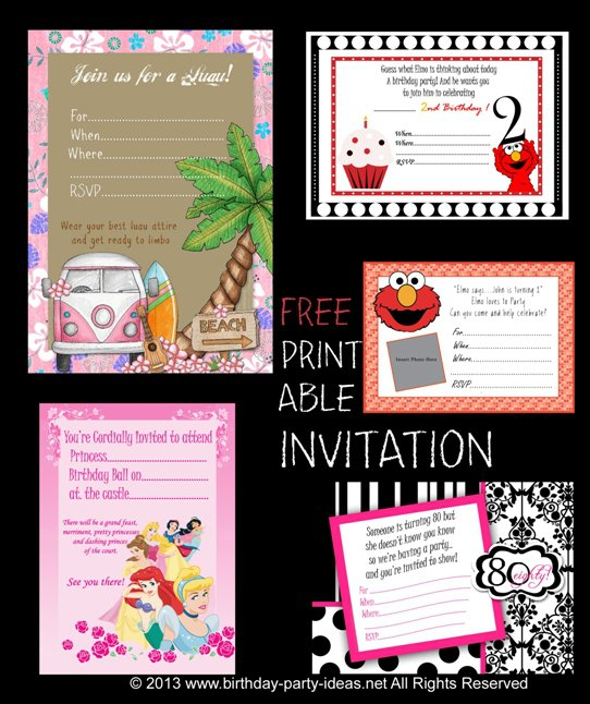 Free Birthday Invitation Templates For Kids 2018