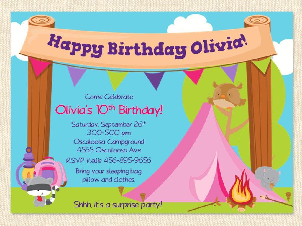 Free Birthday Party Invitation Templates For Mac