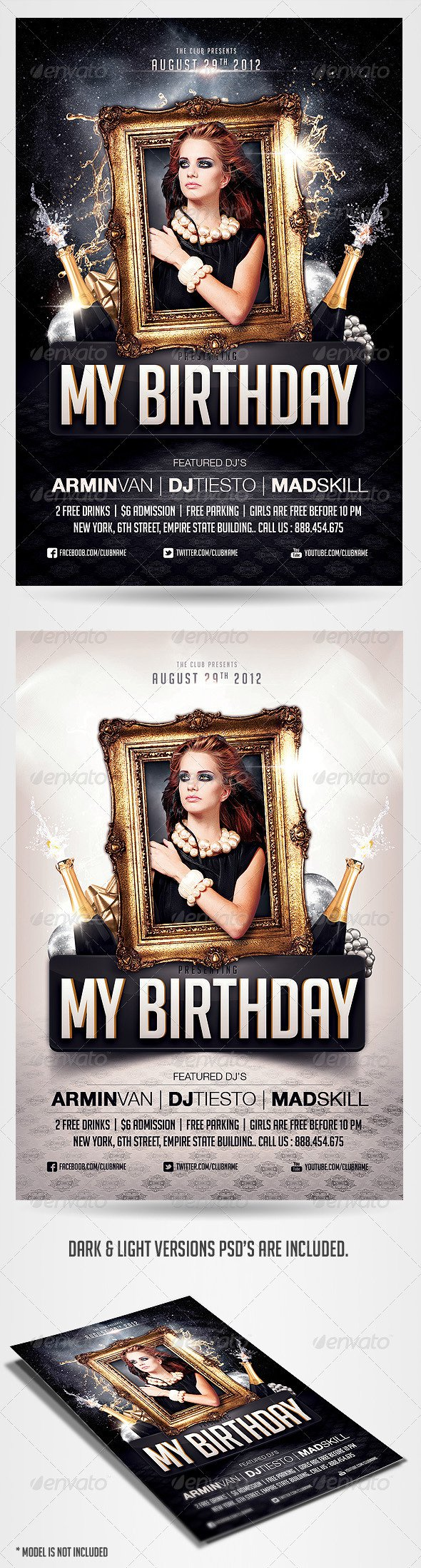 Free Birthday Party Invitation Templates Photoshop
