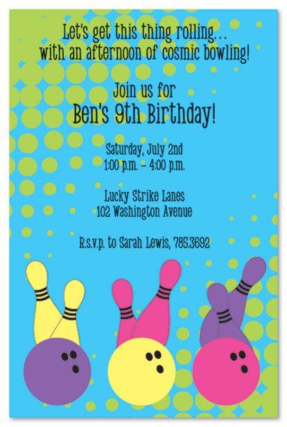 Free Bowling Birthday Invitations 2015