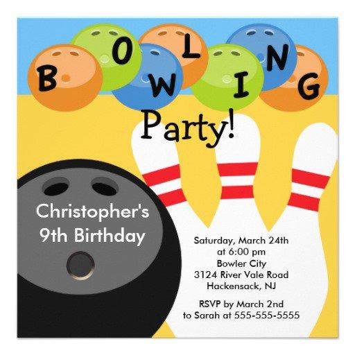 Free Bowling Birthday Invitations 2017