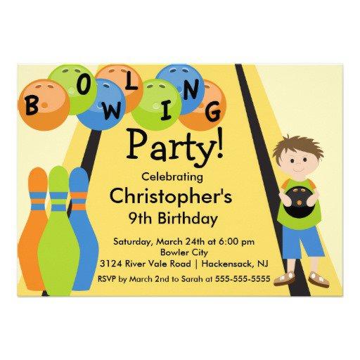 Free Bowling Birthday Invitations 2018