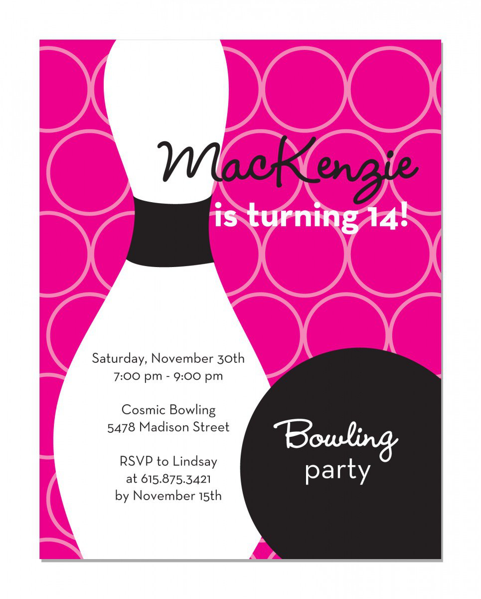 Free Bowling Birthday Invitations Printable 2015