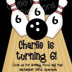 Free Bowling Birthday Invitations Printable 2018