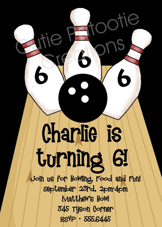 Free Bowling Birthday Invitations Printable 2018