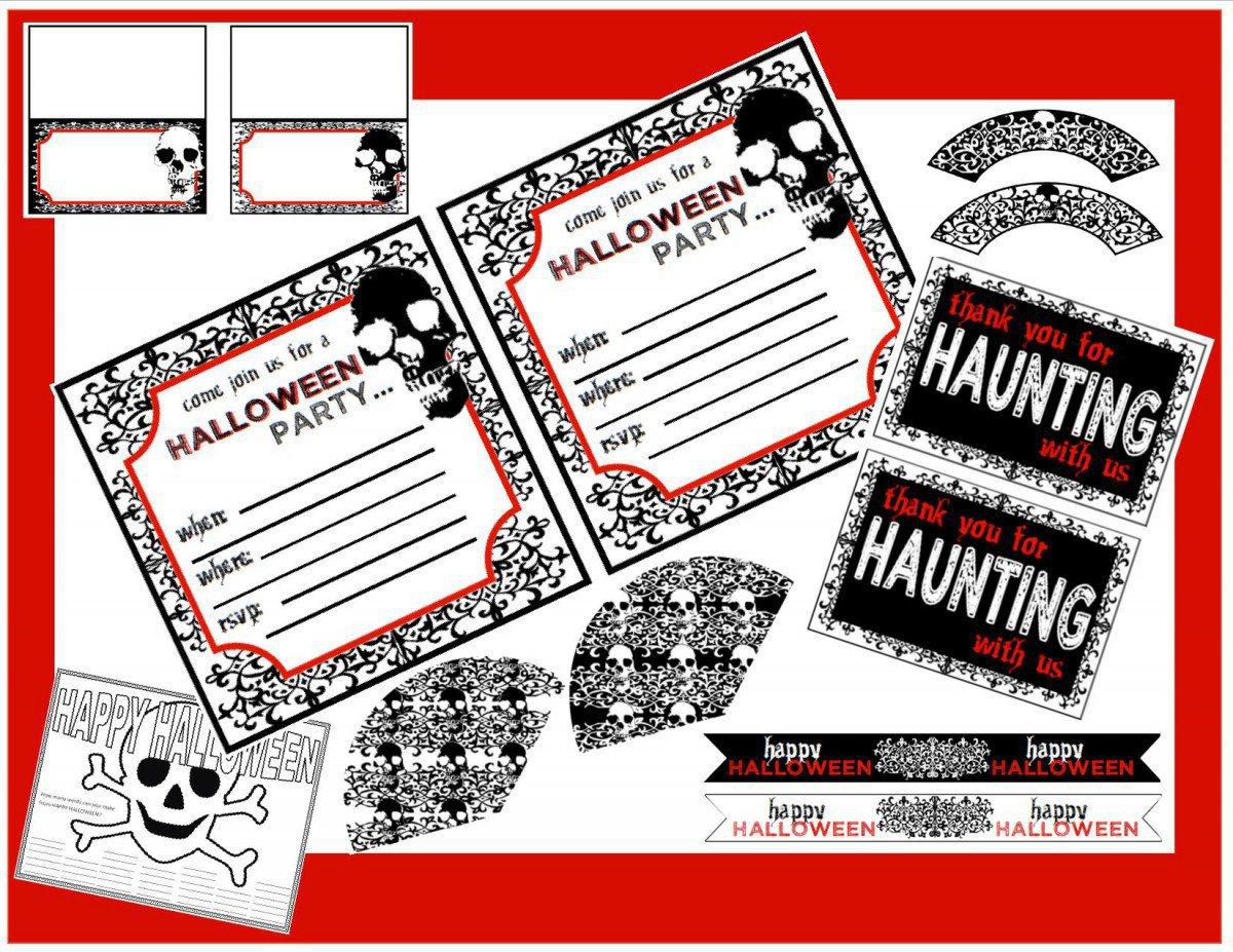 Free Children Halloween Party Invitations 2016