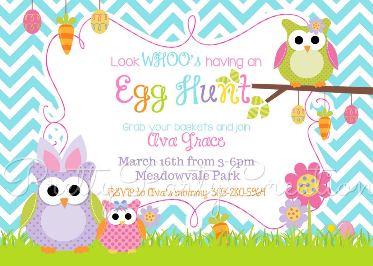 Free Easter Egg Hunt Party Invitations