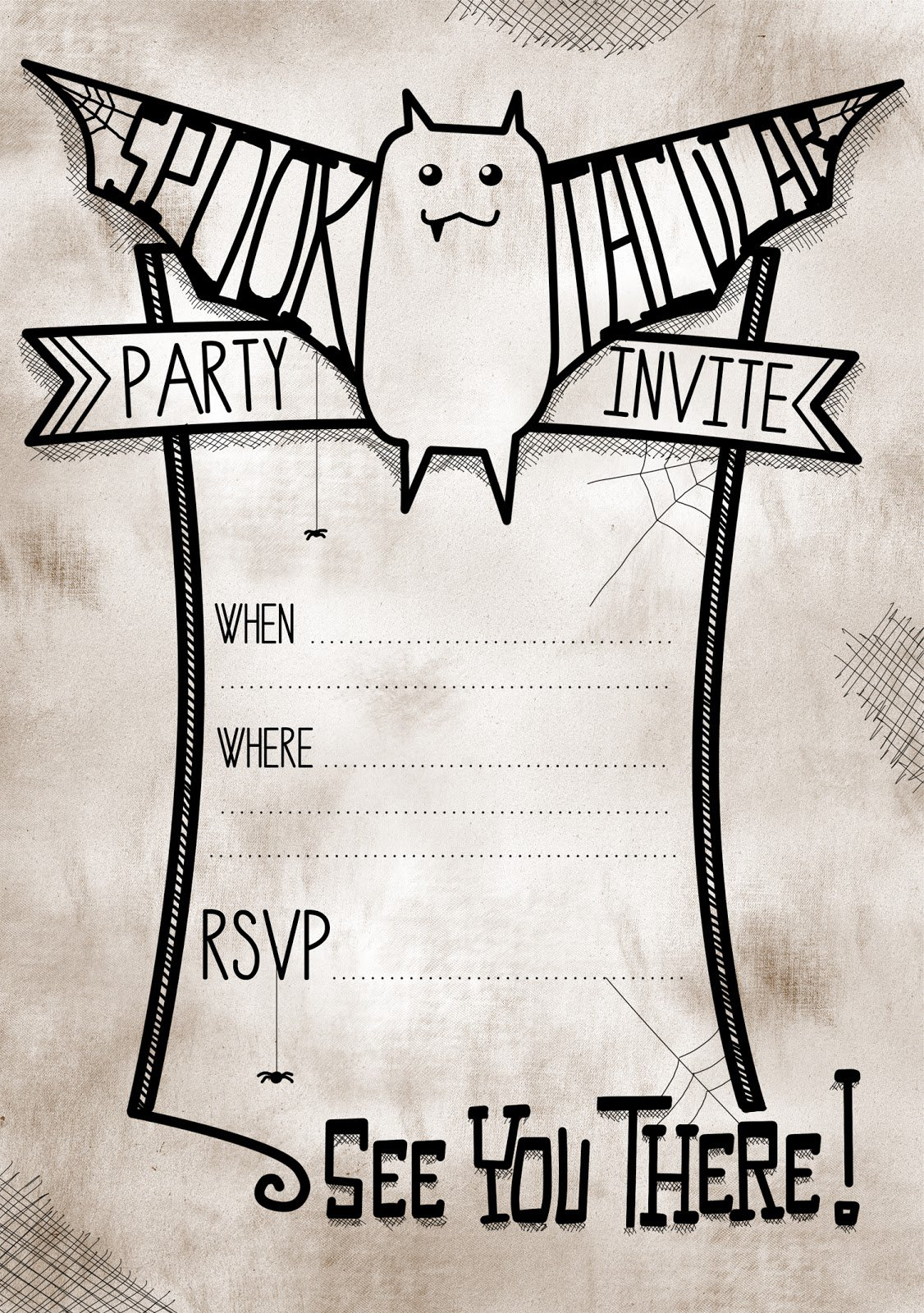 free printable halloween invitations templates