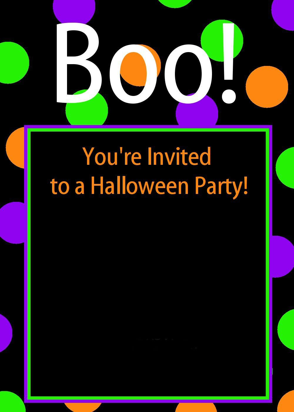 Free Halloween Party Invitations Printables