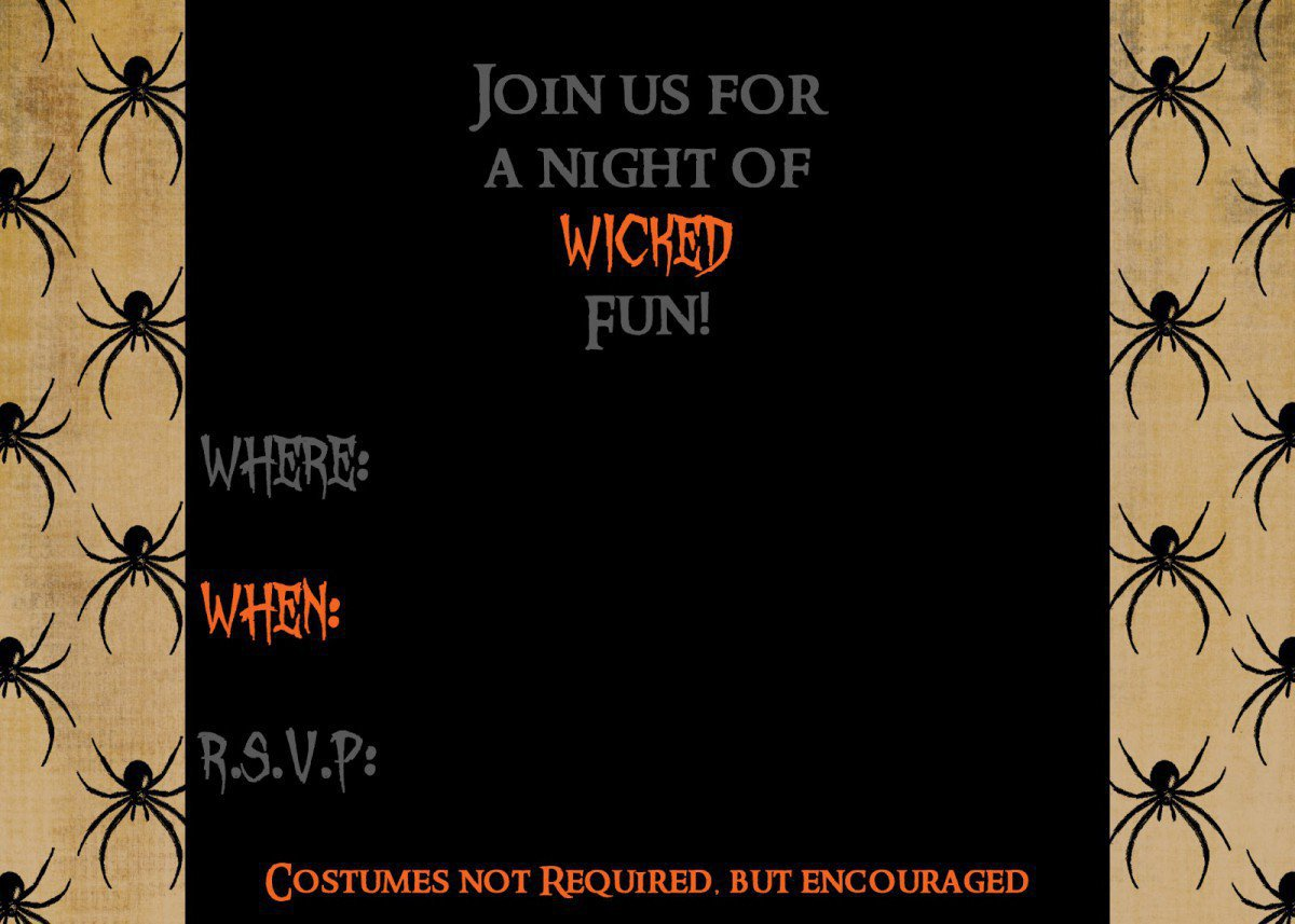 Free Halloween Printable Invitations 2015