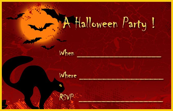 Free Halloween Printable Invitations
