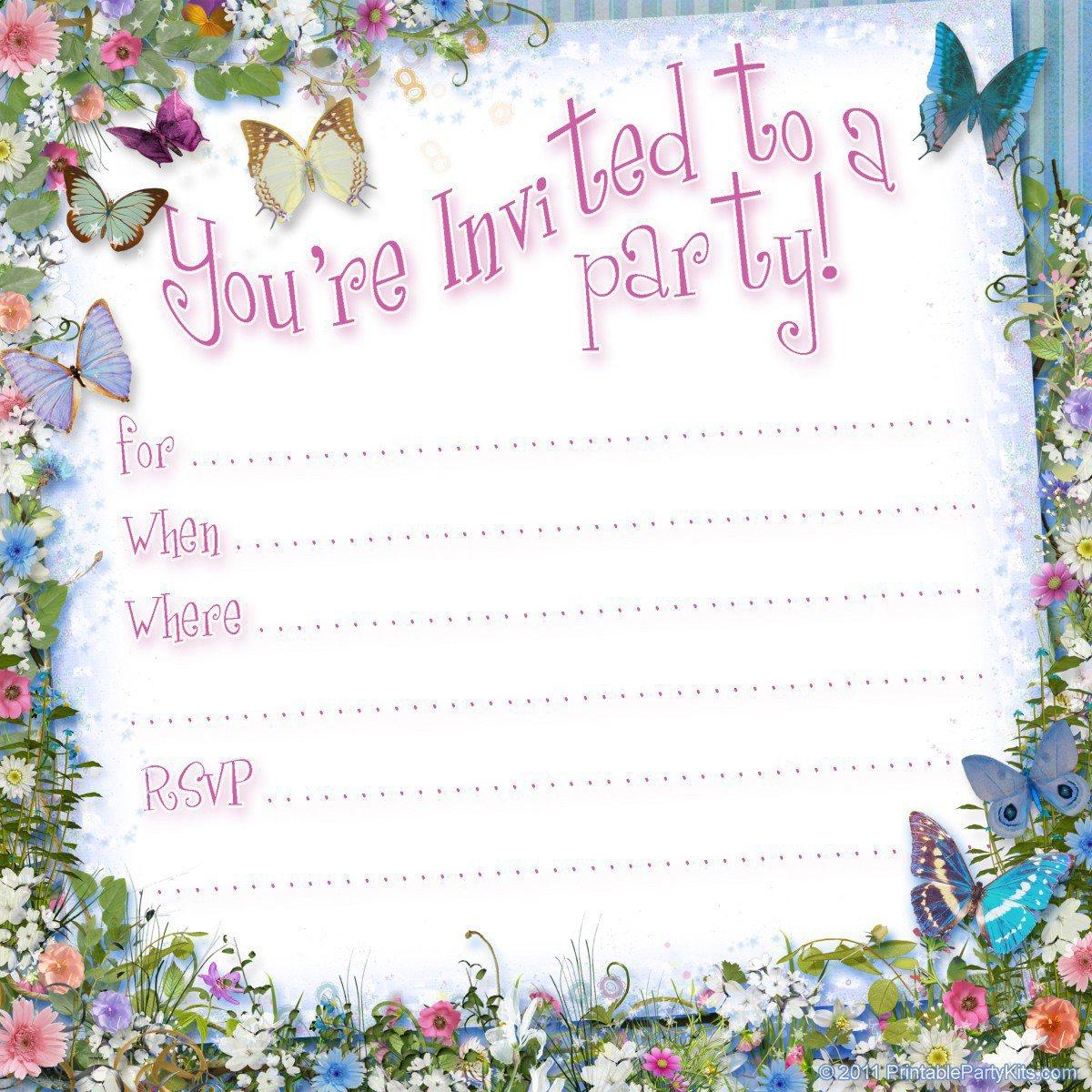 Free Kids Invitations Printable