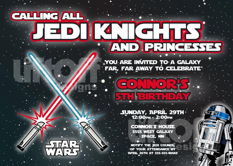 Free Online Star Wars Birthday Invitations